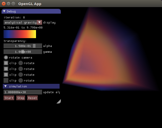 Einstein Field Equations Solver in LuaJIT and OpenCL